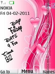 Love Clock 02 theme screenshot