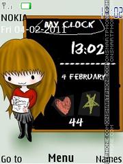 Blackboard Clock theme screenshot