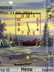 Winter Clock 04 tema screenshot