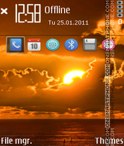 Sunset 18 theme screenshot