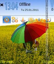 Under My Umbrella es el tema de pantalla