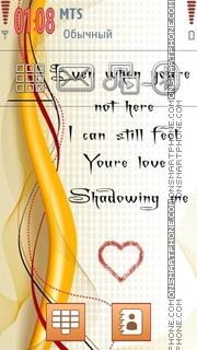 Love Text theme screenshot