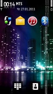 Lights Of City 01 theme screenshot