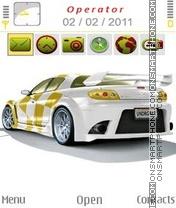 Thunder Car theme screenshot