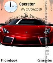 Red supercar theme screenshot