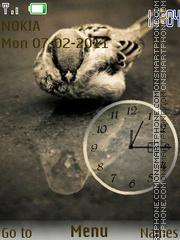 Sparrow clock Theme-Screenshot