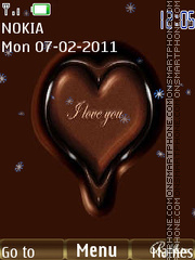 Choco Heart theme screenshot