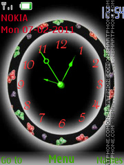 Скриншот темы Butterflies clock