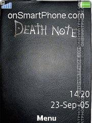 Capture d'écran Death note thème
