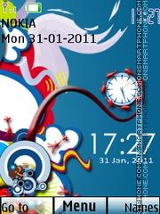Vector Dual Clock 01 theme screenshot