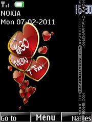 Love Clock 03 theme screenshot