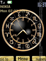 Zodiac Clock 01 theme screenshot
