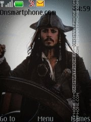 Pirates of the Caribbean. Jack Sparrow/Johnny Depp. theme screenshot