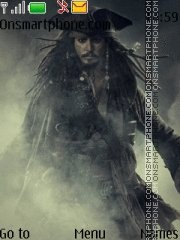 Pirates of the Caribbean. Jack Sparrow/Johnny Depp Theme-Screenshot
