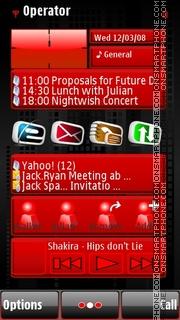 Dark City theme screenshot