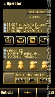 Gold N8 theme screenshot