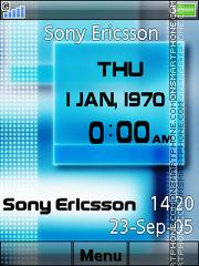 Sony Ericsson Clock theme screenshot