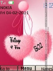 Love Clock 06 theme screenshot