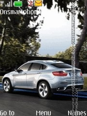 BMW X6 3.0D theme screenshot