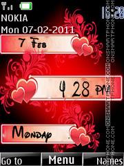 Love Clock 07 es el tema de pantalla