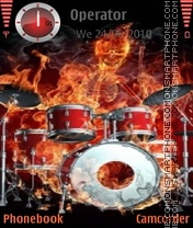 Fire Drummer theme screenshot