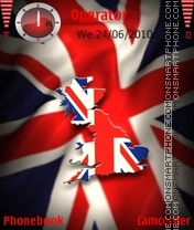 United kingdom flag theme screenshot