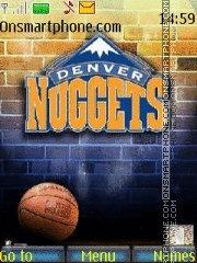 Denver Nuggets 01 theme screenshot