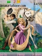 Скриншот темы Tangled (Rapunzel)