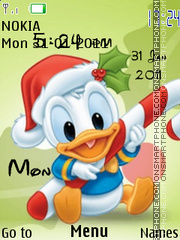 Скриншот темы Baby Duck Clock