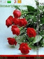 Valentine roses 02 theme screenshot