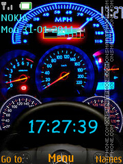 Speedo Meter Clock theme screenshot