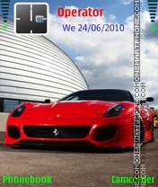 Ferrari 599 theme screenshot