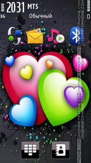 Colorful Hearts 04 theme screenshot