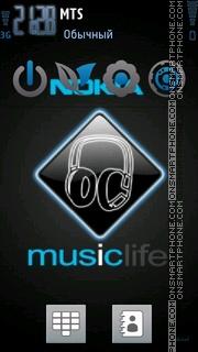 Nokia 7240 theme screenshot