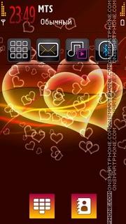 Glowing Heart 01 tema screenshot