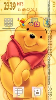 Cute Pooh 01 theme screenshot