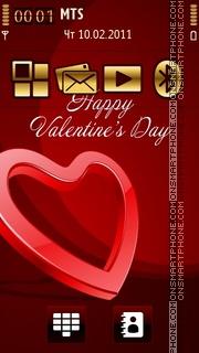 Happy Valentines Day 11 theme screenshot