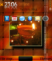 Happy diwal theme screenshot