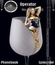 Girl In A Glass Theme-Screenshot