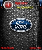 Ford Logo Metal Theme-Screenshot