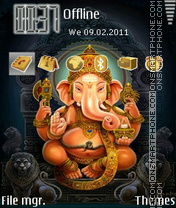 Скриншот темы God Ganesh
