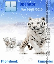 White tiger & cubs Theme-Screenshot