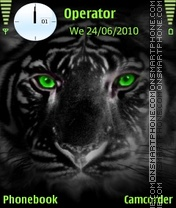 Greeneyes tiger Theme-Screenshot