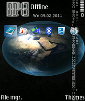 Earth 91 theme screenshot