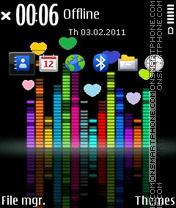 Скриншот темы Love Melody
