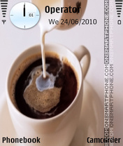 Coffee with milk tema screenshot