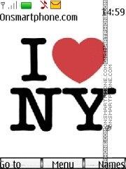 I love NY es el tema de pantalla