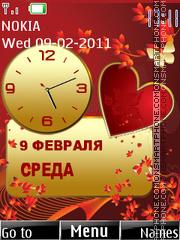 Love Dual Clock 02 theme screenshot