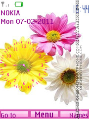 Flowers Clock 01 theme screenshot