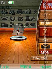 Wooden windows Clock theme screenshot